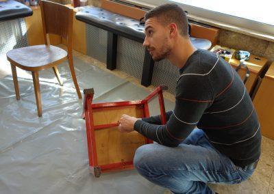 Ropotarnica - delavnica - Snaga - recikliranje - študenti - obnova