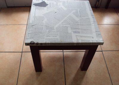 Ropotarnica - pohištvo - obnova - mizica