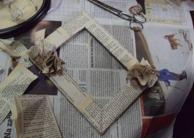 Ropotarnica - recikliranje - delavnica - papir - okvir3