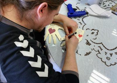 Ropotarnica - voščilnica - recikliramo - valentinovo - delavnica